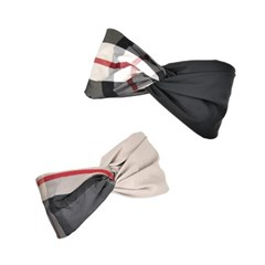 classic check hairband (2colors
