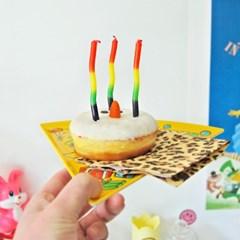 꿈틀이 젤리 모양 캔들(8개 세트)