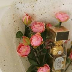 발렌타인 자나장미꽃다발(조화) + 페레로로쉐5T_(861580)