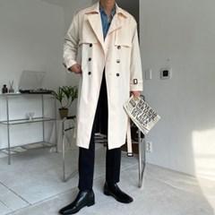 [한정세일/당일발송]퍼펙트 오버핏 더블 트렌치 코트 (ivory)