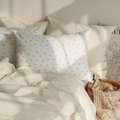체크 꽃무늬 순면 사계절 푹신한 베개 커버 50x70 - 4color