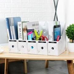DIY 페이퍼 화일박스 문서보관함 5개/ 서류보관상자