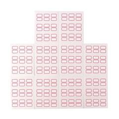 적색 일반견출지 스티커 / 10매 견출지분류라벨