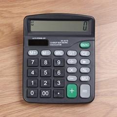 12자리 태양열겸용 전자계산기/사무용 탁상용계산기