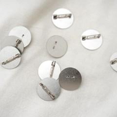 원형 코사지 브로치 핀(25mm / 5개)