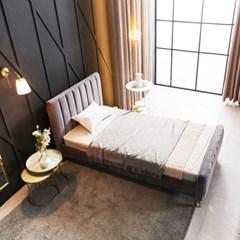 KUF 엘핀 벨벳 침대,메모리폼 매트 25cm SS_(2152618)