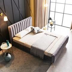 KUF 엘핀 벨벳 침대,메모리폼 매트 15cm Q_(2152616)