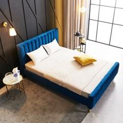 KUF 엘핀 벨벳 침대,메모리폼 매트 25cm Q_(2152614)