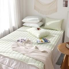 체크봉봉 세미 사계절 침대패드(S/Q) 4color