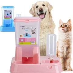 강아지자동급식기 고양이 애견급수기 반자동 밥그릇