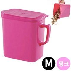 리첼 핸드사료통 M 핑크