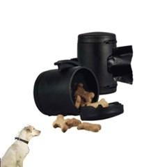 휴대용 강아지 멀티박스 간식통 배변봉투 블랙