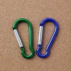 등산용 카라비너 2p/캠핑고리 등산고리 비너 열쇠고리