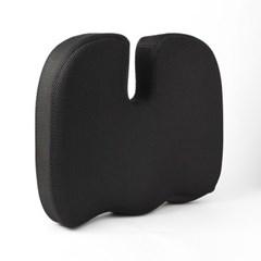 바른자세 메모리폼 골반 방석(블랙) / 의자방석