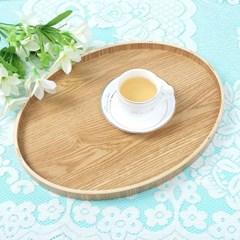 키친드 타원 우드트레이(40x30.5cm) 카페 서빙쟁반