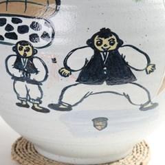 귀얄 팽이치기 쌀독 20kg 쌀항아리 현관 소금항아리