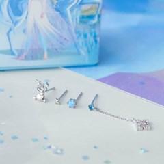 [클루X디즈니] 겨울왕국 올라프 레이어드 귀걸이
