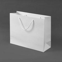 무지 가로형 쇼핑백(화이트)(32x25cm)