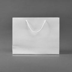 무지 가로형 쇼핑백(화이트)(30x25cm)