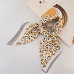 실키 쁘띠 꽃무늬 플라워 데일리 가방 패션 스카프