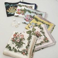 실키 미니 쁘띠 플라워 꽃무늬 미시 승무원 스카프