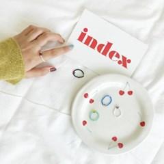 체리 비즈 반지 만들기 세트 DIY 키트 5type Dahlia 집순이 취미