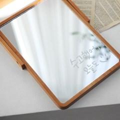 우드 탁상 거울