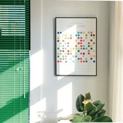 오늘의 색 포스터 (A2) DIY 달력 포스터