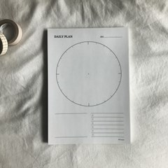데일리플랜 메모패드 100매 (daily planner)