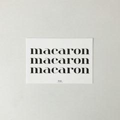 macaron 마카롱 텍스트 엽서
