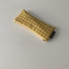 빈티지 옐로우 필통Vintage yellow pencil case)