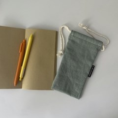 르네 민트 필통(Lene mint pencil case)
