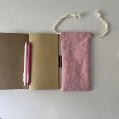 르네 핑크 필통(Lene pink pencil case)
