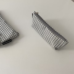 그레이 삼각 필통(Gray triangle pencil case)