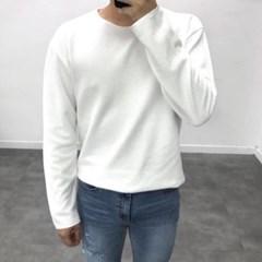 봄 루즈핏 10수 라운드넥 무지 기본 와플 긴팔 티셔츠