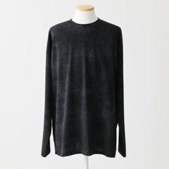 봄 루즈핏 라운드넥 물나염 스프레이 분또 긴팔 롱티셔츠
