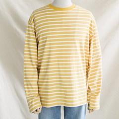 봄 오버핏 스트라이프 단가라티 컬러 박스 긴팔 티셔츠