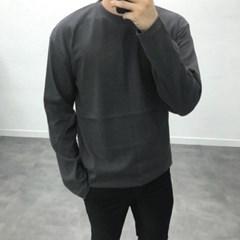 봄 봄 남자 10수 오버핏 면 무지 기본 긴발 티셔츠
