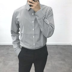 봄 TR소재 무지 기본 세미캐주얼 정장 솔리드 셔츠
