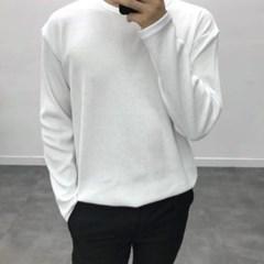 봄 루즈핏 라운드넥 베이직 기본 무지 와플 긴팔 티셔츠