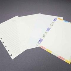 DIY Note (속지 리필 (A4,A5,B6  / 100g두께 60매 구성))