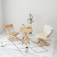 원목 접이식 미니 카페 테이블&의자 세트