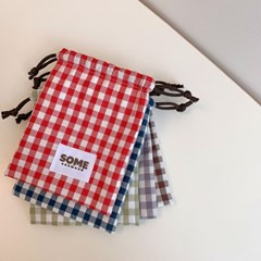 check string pouch (red)