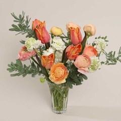 라넌큘러스 & 튤립 꽃다발 (생화, 전국택배)
