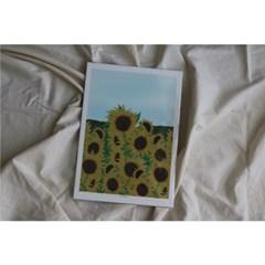 민트초코별 인테리어그림 [해바라기] A3/A2 일러스트 포스터