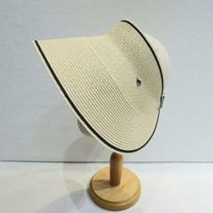 챙넓은 블랙 화이트 기본 데일리 패션 썬캡 모자
