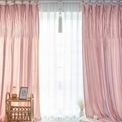 벨벳퓨어 리본핀탁 커튼(바이올렛 핑크)