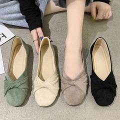 kami et muse Twist top suede flat_KM21s011