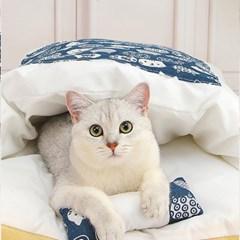 캣배딩 고양이 베개+이불(44x29cm) 반려동물 쿠션