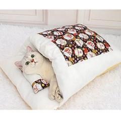 캣배딩 고양이 베개+이불(44x29cm) 반려동물 숨숨집